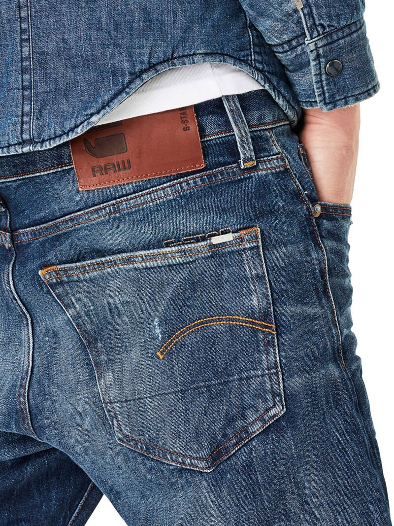 3301 Slim Red Listed Selvage