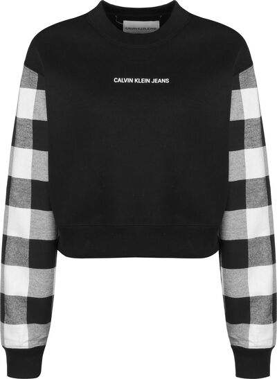Buffalo Check Sleeve Crop W