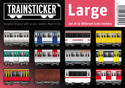 Trainsticker Set L (A5) 12 pcs