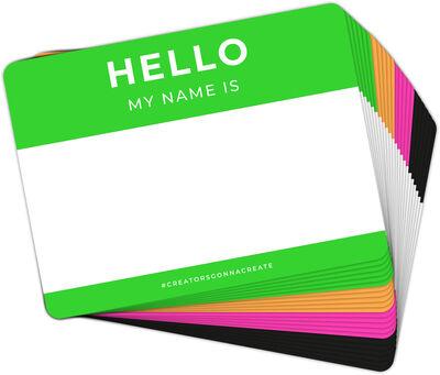 Hello my name is - NEON 80 pcs