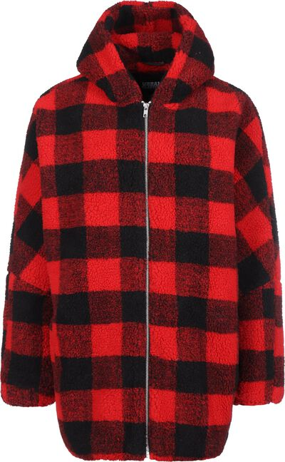 Hooded Oversized Check