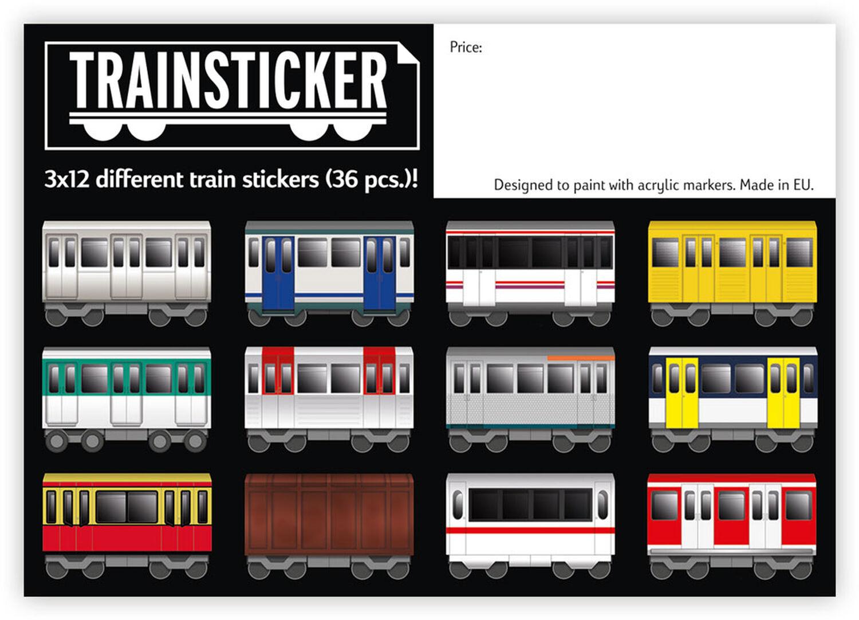 Trainsticker Set XL (A4) 12 pcs