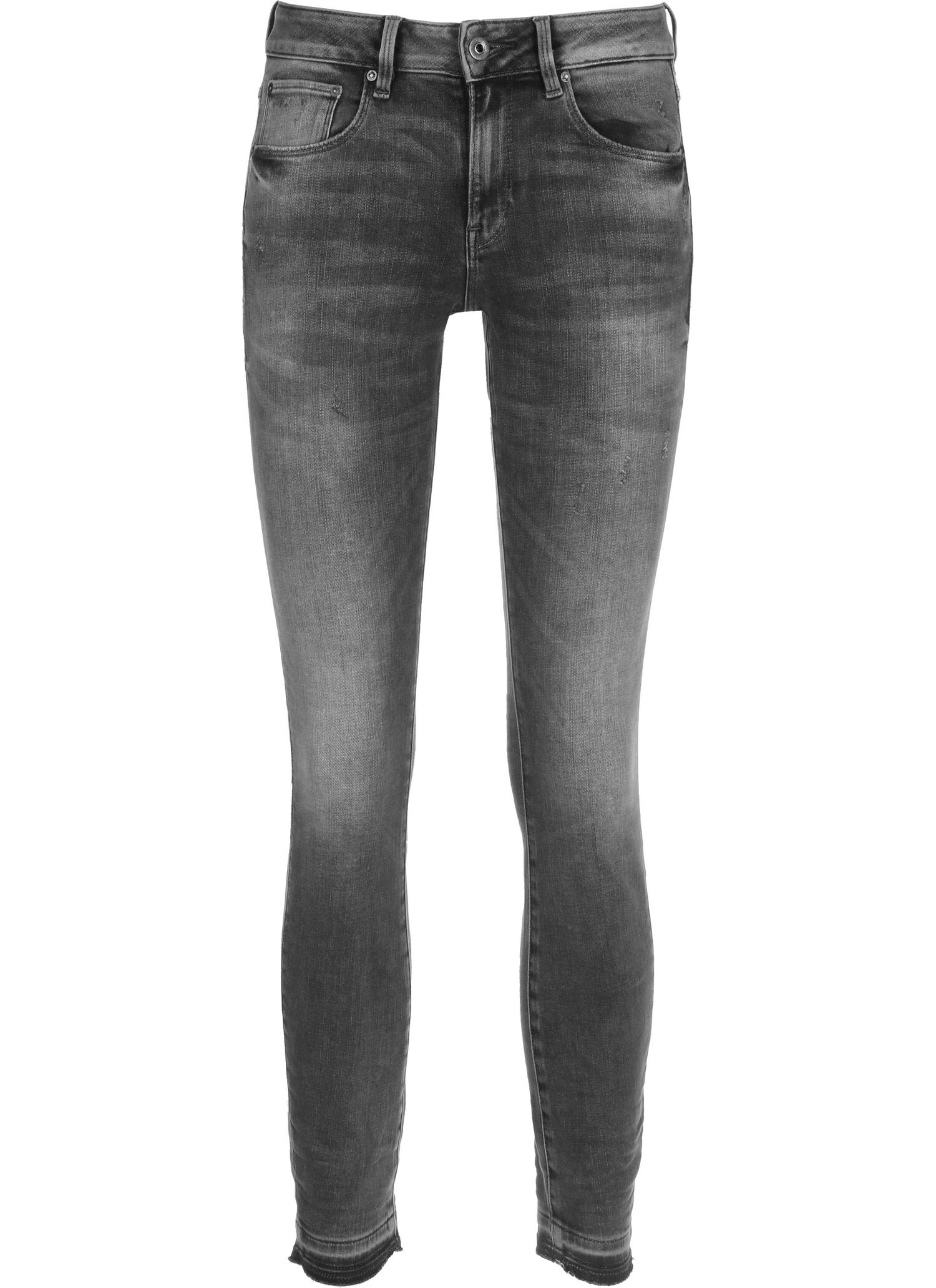 3301 Mid Skinny Ripped Edge Ankle