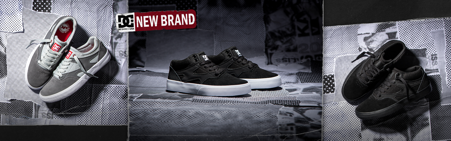 New DC Shoes modells in black, white and gray