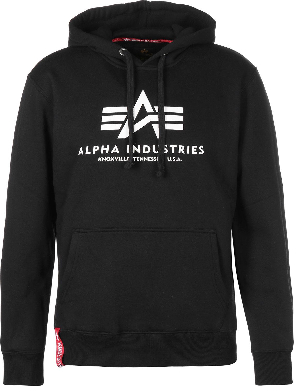 Alpha Industries Sweatshirt Alpha Block-Logo Hoody Black